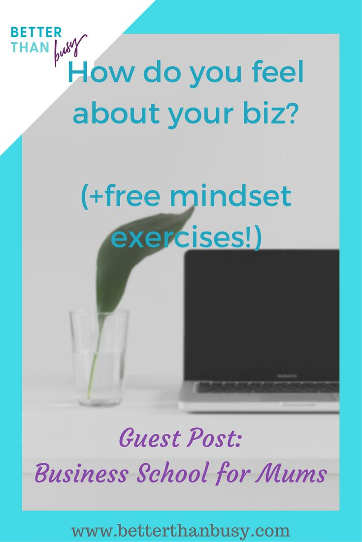 Is your mindset the reason that your business isn't taking off? Click through for a brilliant blog post and great mindset exercises for mumpreneurs and biz mums