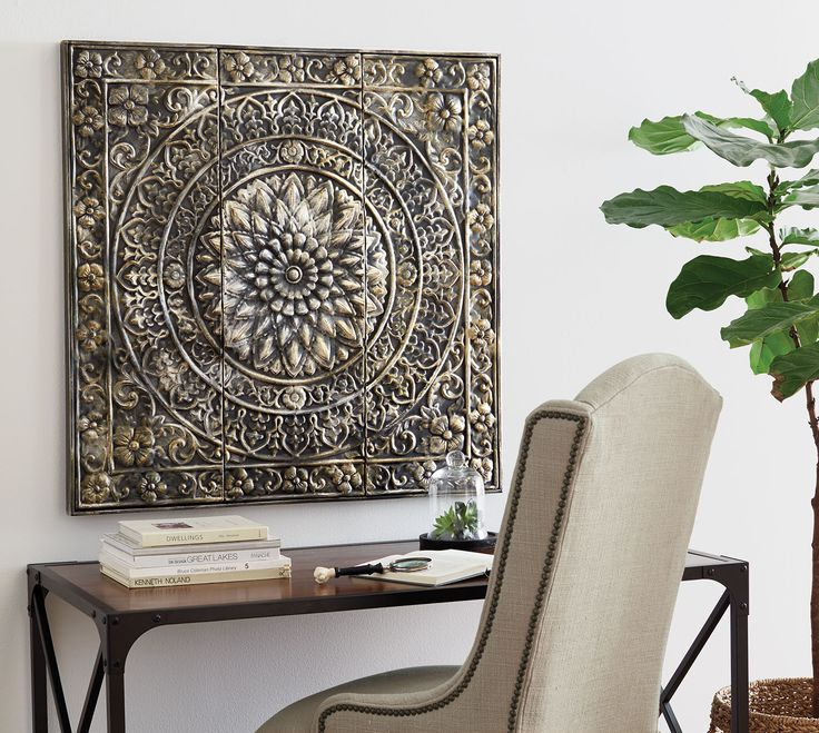 Home Decorators Collection Amaryllis Metal Wall Decor In Distressed