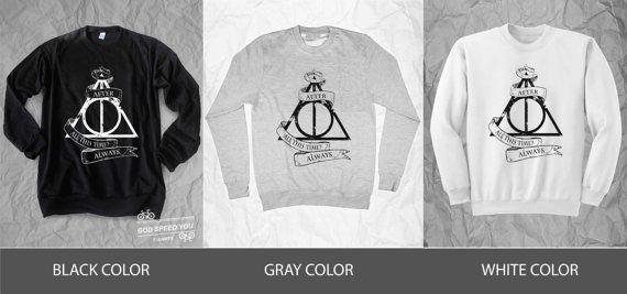 Hallow reliques après tout ce temps toujours, Harry Potter, T shirt, chemise de baseball, les manches 3/4, les chandails chemise, débardeur, unisexe