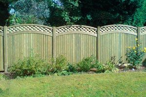 Curved Fence Design Great Outdoors Pinterest Fence