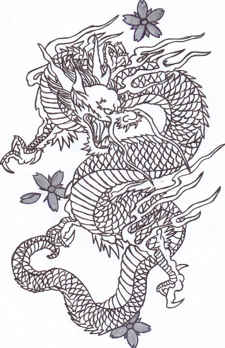 Chinese Dragon 2 By Sunshine Vamp On Deviantart Chinese Dragon 2 By Sunshine Vamp A In 2020 Japanese Dragon Tattoos Dragon Tattoo Outline Chinese Dragon Tattoos