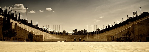 Kalimarmaro (Panathinaikon) stadium in Athens  by Antonis Androulakis, via Flickr