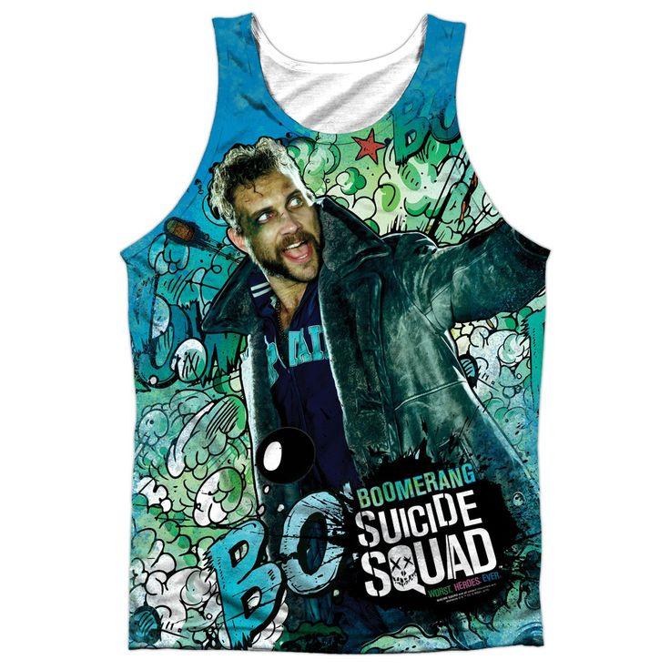 """Checkout our #LicensedGear products FREE SHIPPING + 10% OFF Coupon Code """"Official"""" Suicide Squad/boomerang Psychedelic Cartoon  Adult 100% Poly Tank Top T- Shirt - Suicide Squad/boomerang Psychedelic Cartoon  Adult 100% Poly Tank Top T- Shirt - Price: $24.99. Buy now at https://officiallylicensedgear.com/suicide-squad-boomerang-psychedelic-cartoon-adult-100-poly-tank-top-t-shirt-licensed"""