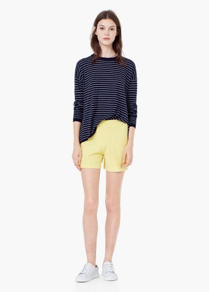 Fließende shorts mit struktur | MANGO