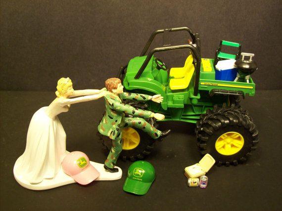 No Gator JOHN DEERE Bride and Groom in Camo Wedding by mikeg1968, $129.00
