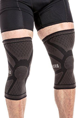 Mava Sports Knee Compression Sleeve Support Pair for Joint Pain  Arthritis Relief Injury Recovery Improved Circulation  Breathable Support for Running Jogging Walking and Recovery *** To view further for this item, visit the image link.