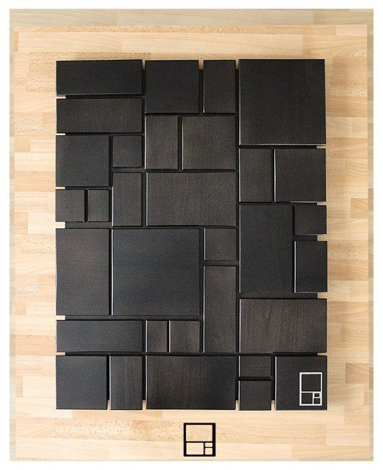 "Reserved for Erica / Mund Series - 30"" x 45"" Solid Wood Wall Piece with Ebony Finish"
