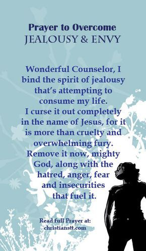 Prayer to Overcome Jealousy and Envy - wish I knew hw to pray like this alll the time