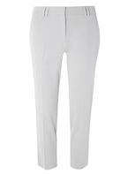 Womens Silver Double Loop Ankle Grazer Trousers- Silver