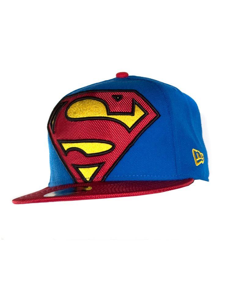 New Era Superman Viza Fill Flatbill Hat