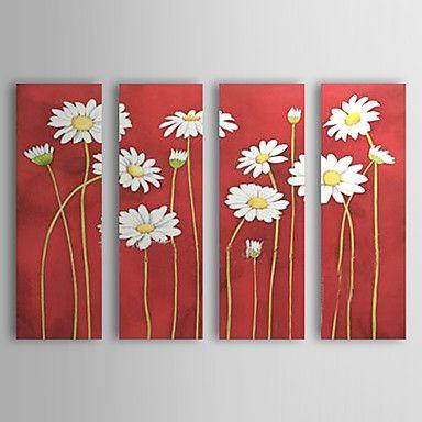 Pintado a mano aceite de conjunto de pintura de flores de 4 1302-FL0057 –