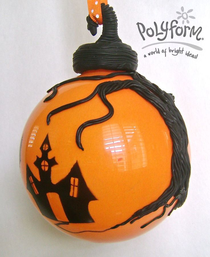 sculpeysoufflehauntedhouseglassornament halloween projectsdiy - Diy Halloween Projects
