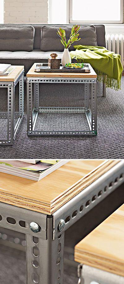Mesas de centro elegante y con estilo industrial - Mirá la guía de aprendizaje .