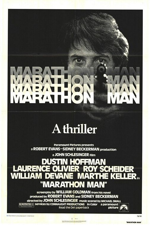 Marathon Man (1976) - just a quick polish, thank you. Poster.  http://scottgronmark.blogspot.co.uk/2016/05/my-second-alternative-to-american-film.html