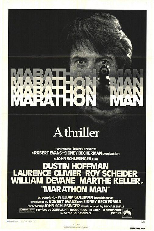 Marathon Man (1976) - just a quick polish, thank you. Poster.  http://scottgronmark.blogspot.co.uk/2016/05/my-second-alternative-to-american-film.html