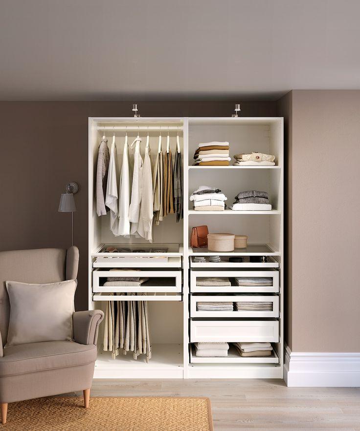 pax wardrobe combination white ikea in 2021 schlafzimmer