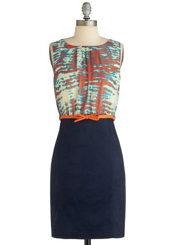 Great dress for work! Even if it is blue and orange...RTR