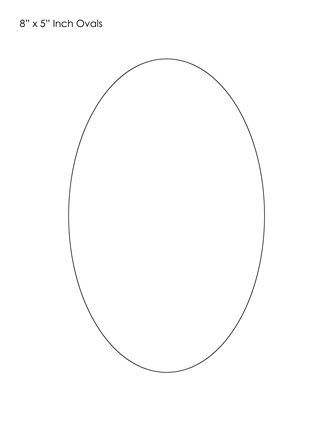 Oval Template Math Shapes Templates Shape Templates