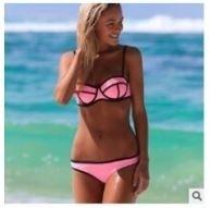 Plavky dámské dvoudílné světle růžové – dámské plavky + POŠTOVNÉ ZDARMA