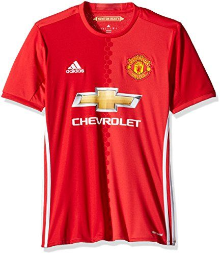 International Soccer Manchester United Men's Jersey, Large, Red/White