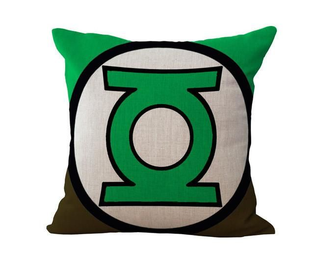 U.S.A Hero Symbol Pattern Steel Chivalrous Green Giant Cotton Cushion