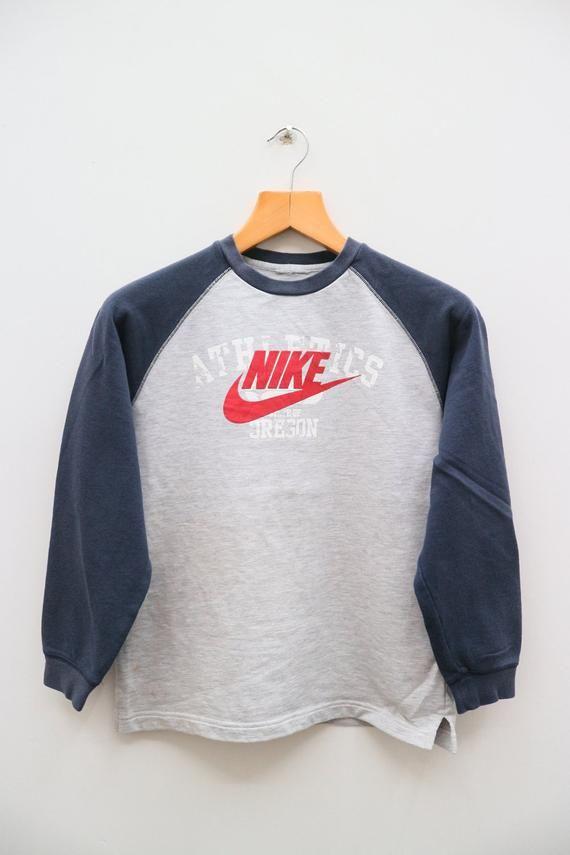 Vintage Nike Oregon Big Spell Big Logo Sportswear Gray Etsy Vintage Nike Pullover Sweater Sweatshirts Grey Pullover Sweater