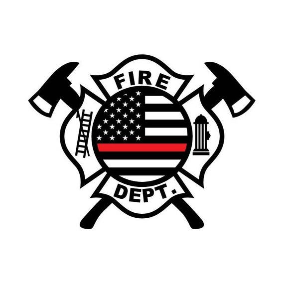Thin Red Line Fire Dept Logo Eps Svg Dxf 1 Png Vinyl Cutter Ready T Shirt Cnc Clipart Graphic 0389 In 2021 Fire Dept Logo Fire Dept Firefighter Logo