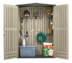 Shop Rubbermaid Roughneck Storage Shed (Common: 5-ft x 2-ft; Actual Interior Dimensions: 4.33-ft x 2-ft) at Lowes.com