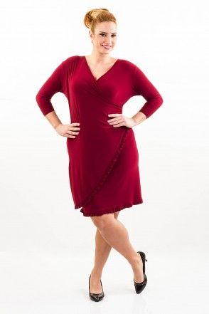 kırmızı büyük beden elbise