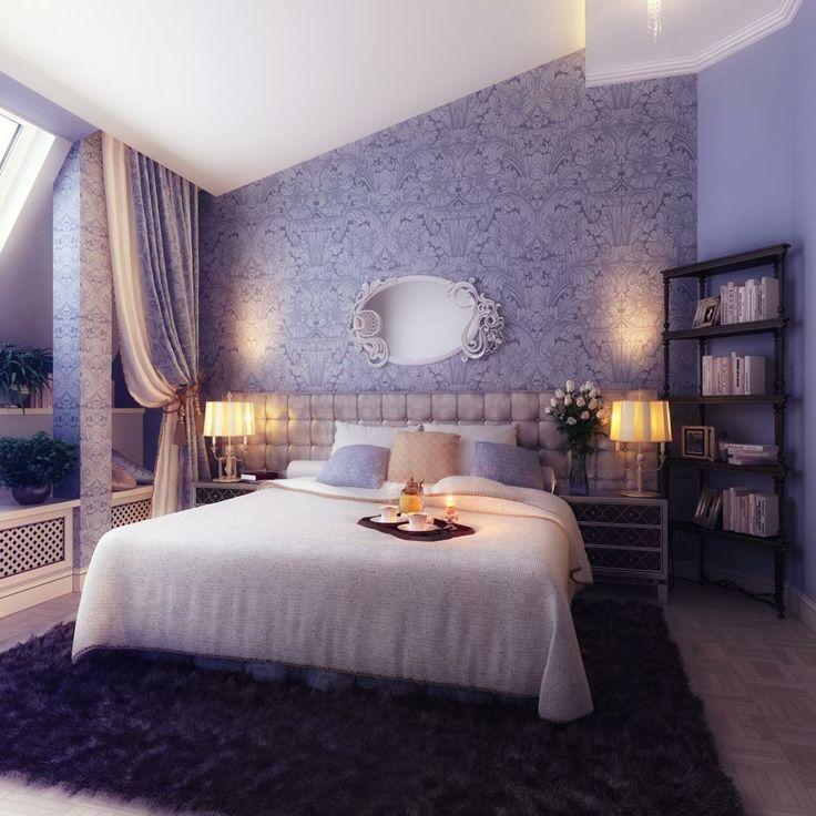 Schlafzimmer Schlafzimmer Pinterest Blau schlafzimmer - schlafzimmergestaltung mit dachschrage