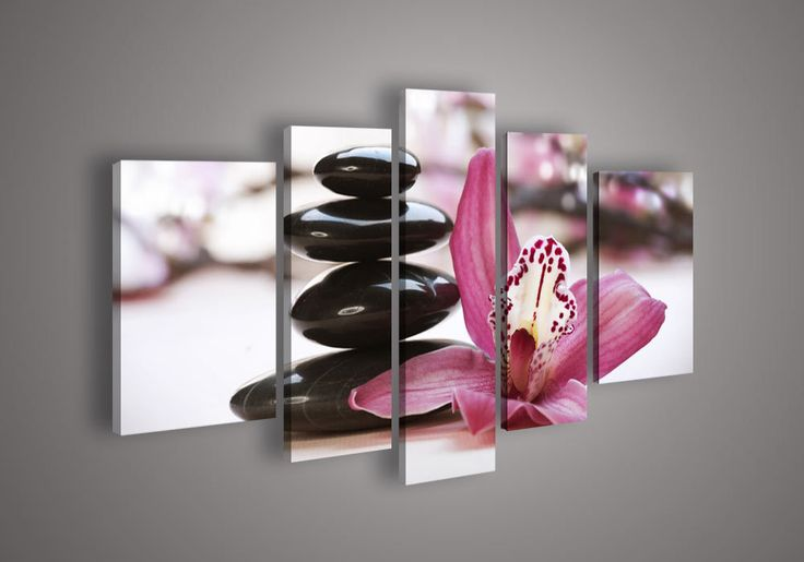 Wall Art In Bedroom Feng Shui : Panel wall art botanical red feng shui orchid oil
