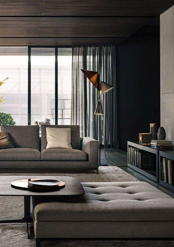 Stijlvol modern, warme grijzen met bruine tonen  creëren een prettige omgeving