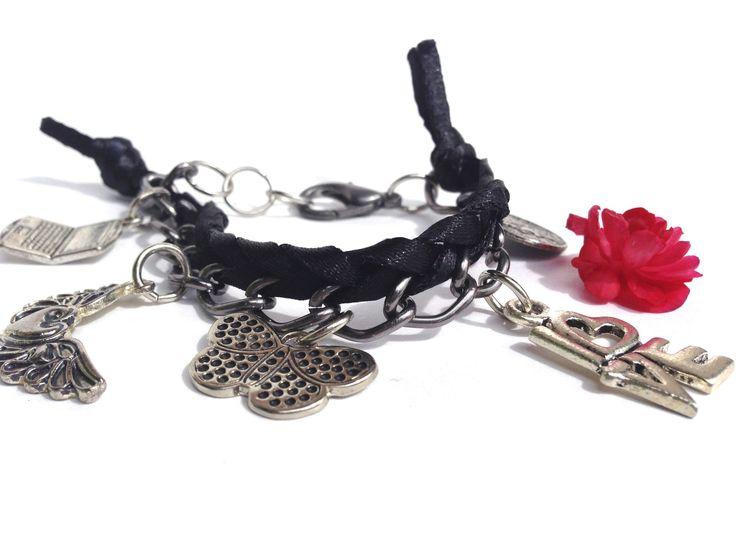 Pulsera cinta-cadena
