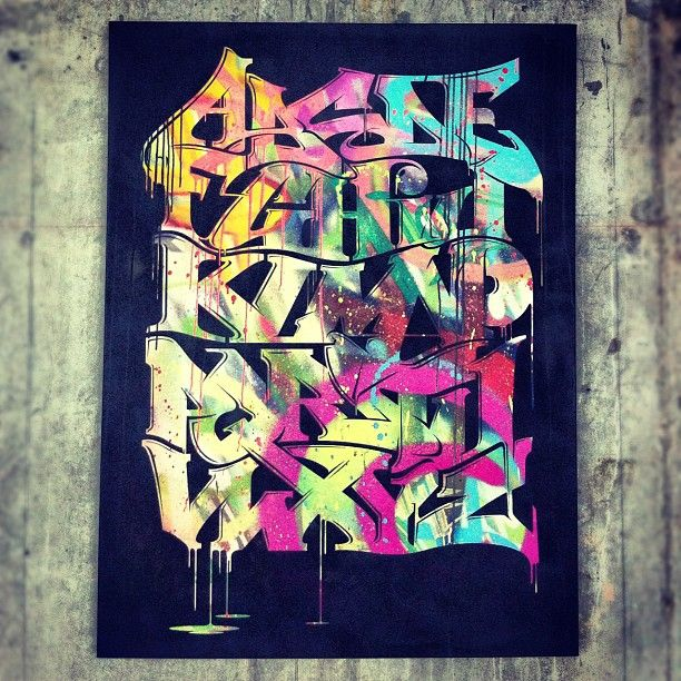 "Graffiti Alphabet on a 36""x 48"" canvas by ""EPIC ONE"""