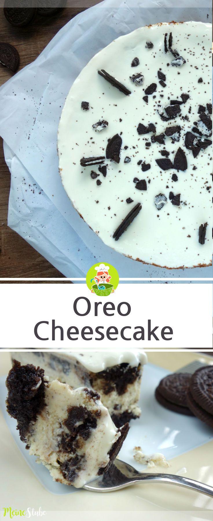 Rezept für einen Oreo Cheesecake, ein Kuchen aus Oreo Keksen. #oreo #käsekuche…