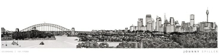 Sydney Cityscape (2013) - Matte poster prints on 200gsm papers.