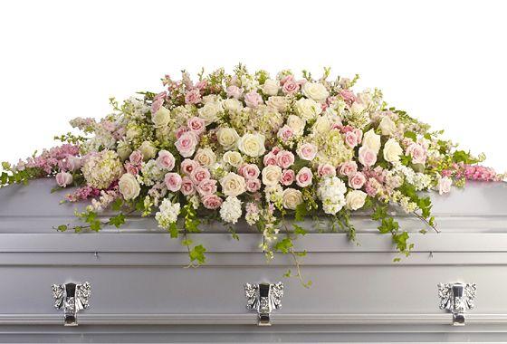 limewhite hydrangea, blushpink rose, freshgreen sympathy design, always adored