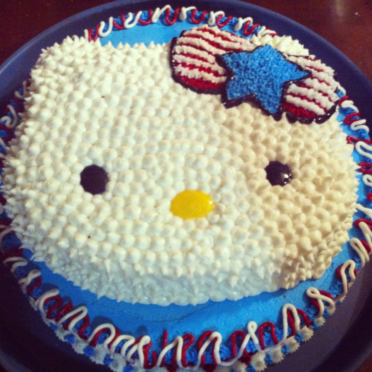 Image result for Hello Kitty 4th of july cake