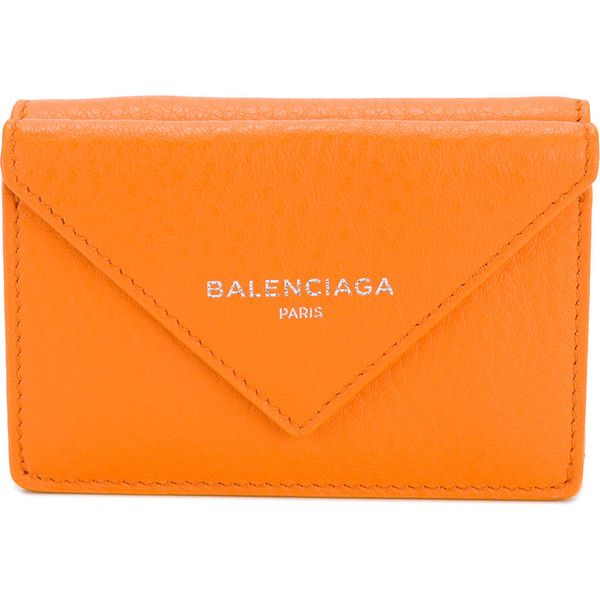 Balenciaga Papier mini wallet ($350) ❤ liked on Polyvore featuring bags, wallets, balenciaga, mini bag, print wallets, real leather wallets and genuine leather wallet