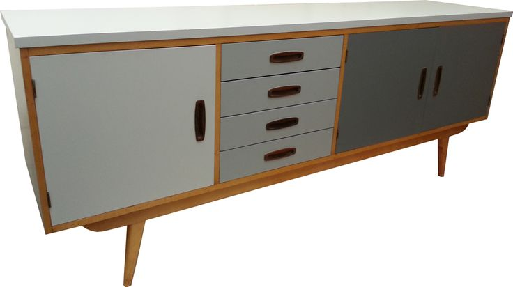 upcycled retro sideboard in grey's create your own at  www.greeninmind.co.uk