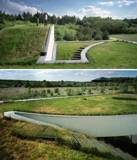 Earth Berm Home With Modern Style One Day The Landscape With Look The Same
