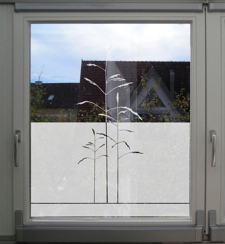 Folie für badezimmerfenster  Sichtschutz Folie für Fenster mit Gräsern / MUSTERLADEN ...