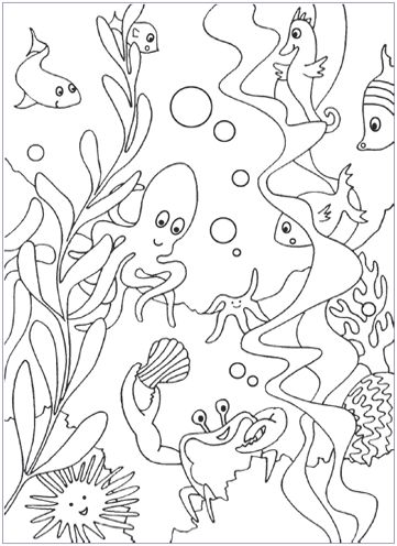 free under the sea coloring pages same website has free under the sea word searches - Colouring In Pages For Kids