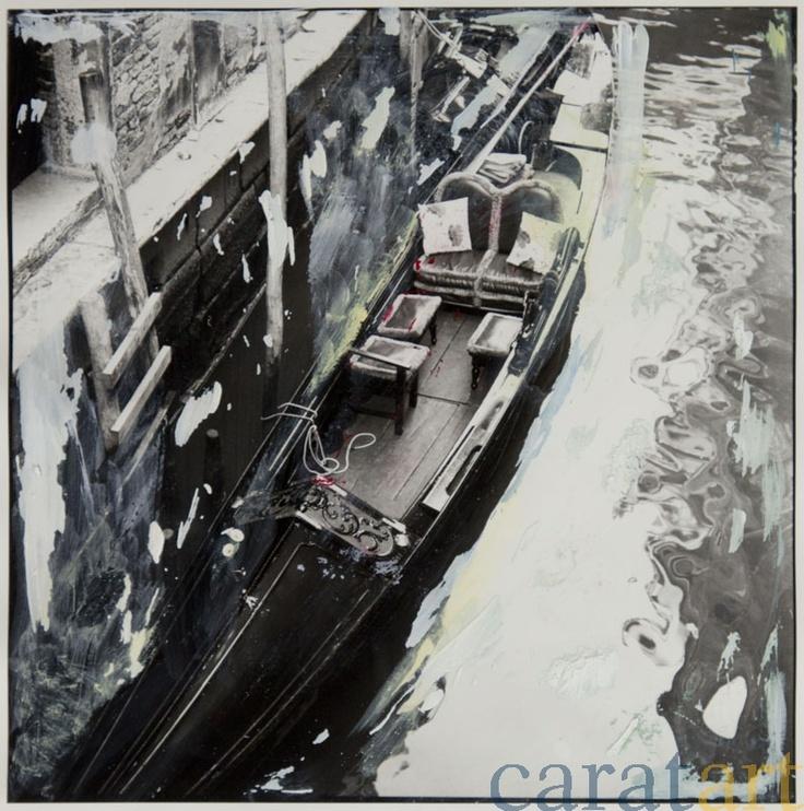Elis Hoymann, Venedig, Übermalung 1, Fotografie mit der analogen Mittelformatkamera, schwarz/weiß, vergrößert auf Baryt-Papier und übermalt mit Acryl, 19 x 19 cm, 2001 / 2012, 340 €