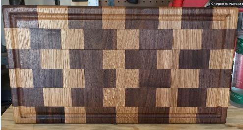 Walnut and White Oak cutting board