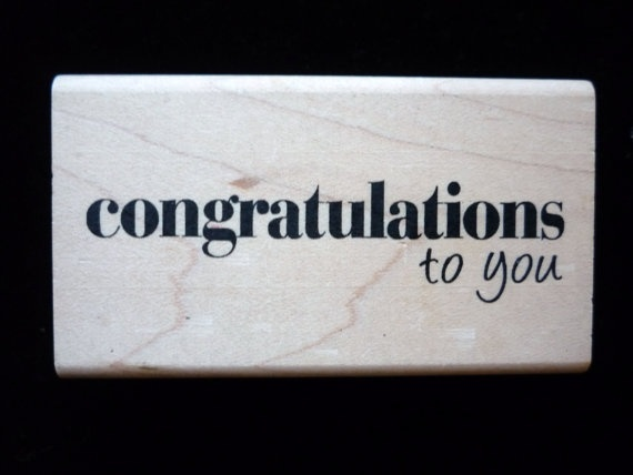 NewRubber Stamp Congratulations to you By by YourScrapbookingShop, $3.99
