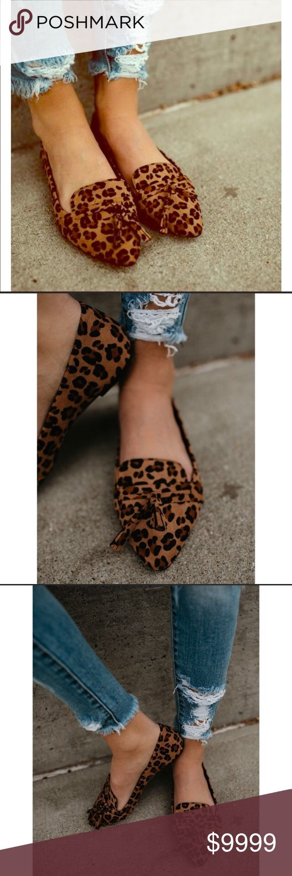 LEOPARD PRINT LOAFERS The adorable leopard print loafers are the absolute statement maker!!! Show off in these cuties with a pair of skinny jeans & basic white T-shirt or why not leggings & a slouchy sweater...whatever your style choice, you can't go wrong!! 🎀 Shoes Flats & Loafers