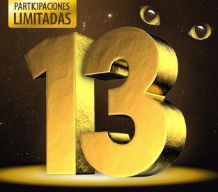 Esta semana es sin duda la del 13!! Mañana es MARTES Y 13 y el año que viene será 2013 :-)    Presentamos la Peña El Trece para Navidad:    - Jugarás 13 números  - Un décimo terminado en 13  - 13+13 participantes  - Premio seguro  - Paricipaciones limitadas    ¡¡Unas de las peñas con más éxito en Ventura24!!    Feliz día!    https://www.ventura24.es/loteria-de-navidad/loteria-navidad-en-grupo-eltrece.do?idpartner=social_source