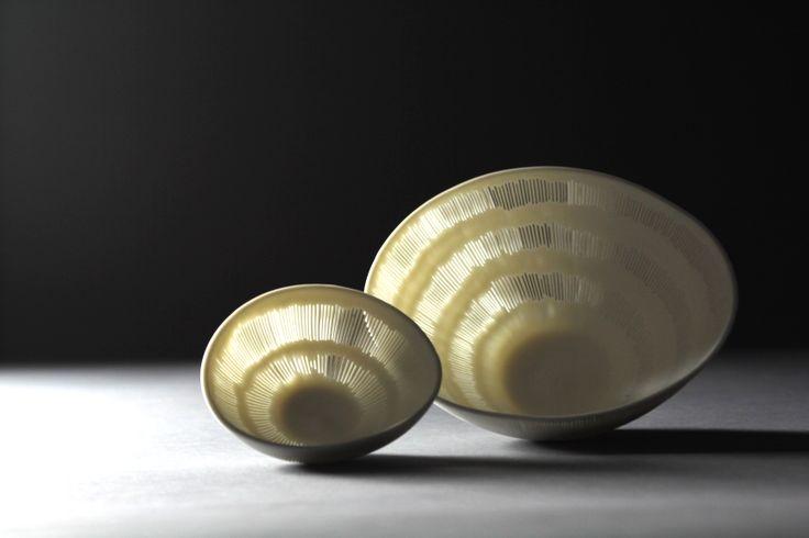 perforated high translucent porcelain by Linda Prüfer.