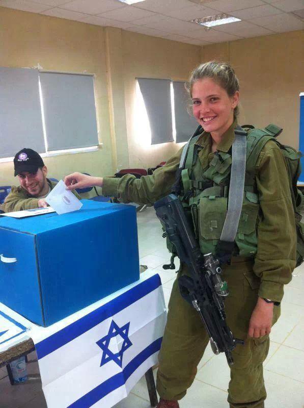 Israeli soldier voting